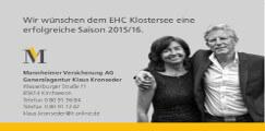 Mannheimer Versicherung Kronseder Teampartner EHC Klostersee e.V.