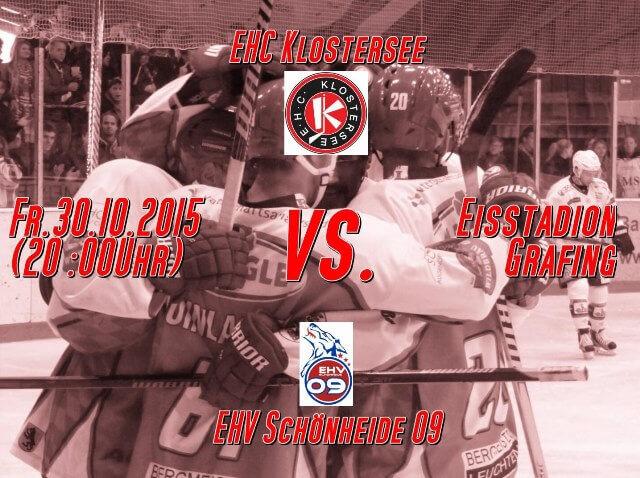 EHC Klostersee vs. EHV Schönheide 30.10.2015