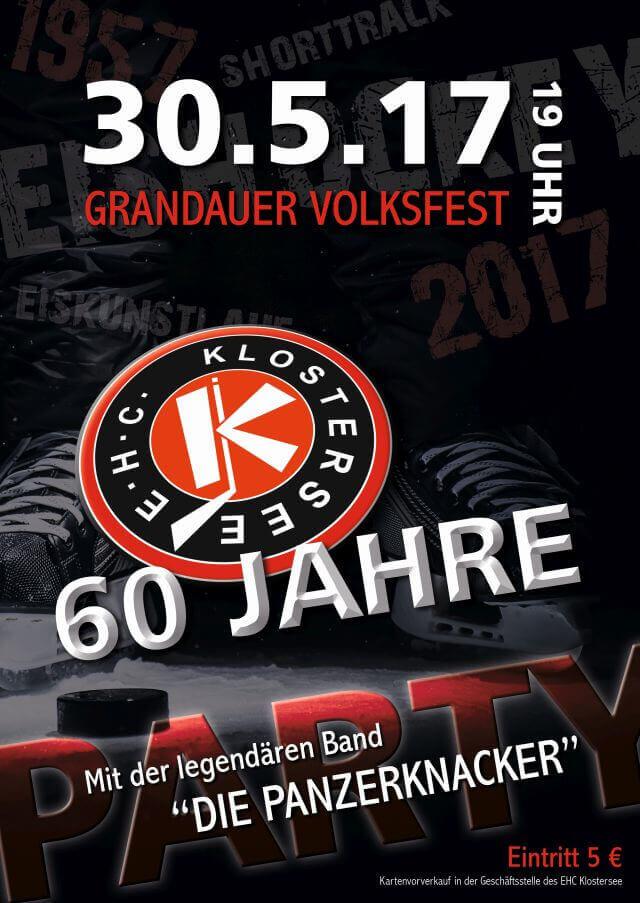 60 Jahre EHC Klostersee - 30.05. - 19 Uhr - Grandauer Volksfest